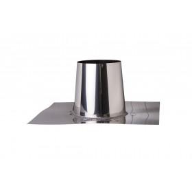 Platdakdoorvoer RVS 0-5 graden 200 mm