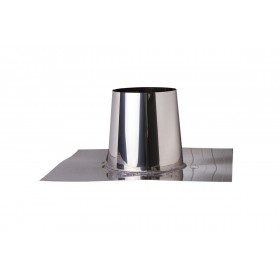 Platdakdoorvoer RVS 0-5 graden 130 mm