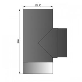 Enkelwandig T-stuk 150 mm