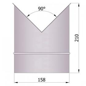Hoeknisbus voor binnenhoek 150 mm