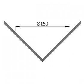 Rozet voor hoeknisbus (buitenhoek) 150 mm