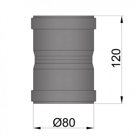 Dubbelmof F/F D: 80 mm L: 12 cm