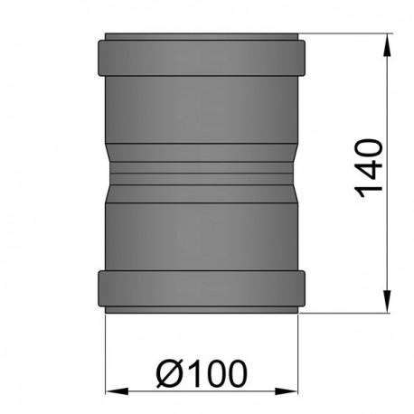 Dubbelmof F/F D: 100 mm L: 14 cm
