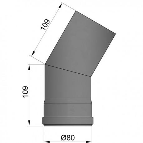 Bocht 30º - D: 80 mm