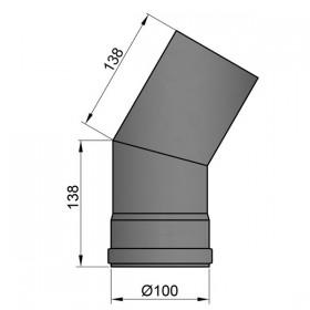 Bocht 30º - D: 100 mm