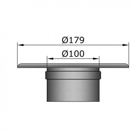 Rozet met muurmof D: 100 mm