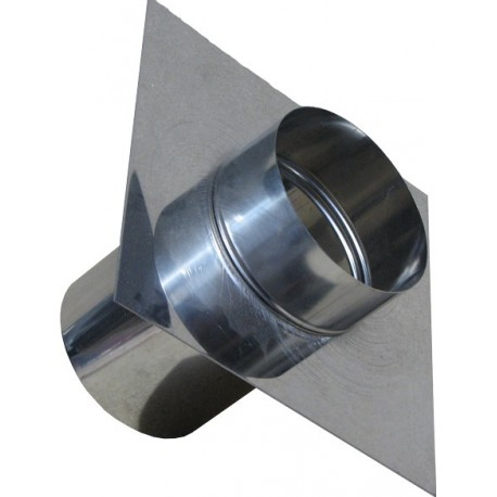 Topaansluiting RVS 150 mm