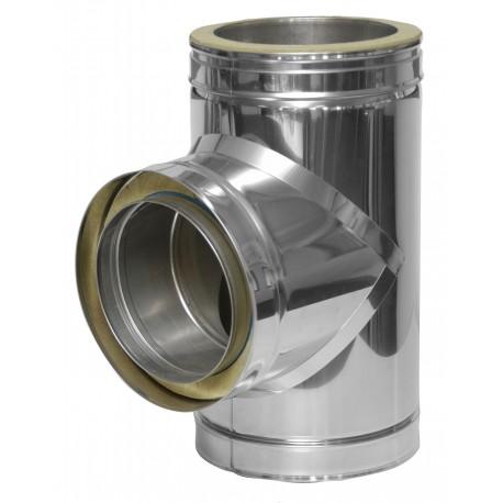 T-stuk 90º met inspectiedeur 30 mm isolatie ø180 mm
