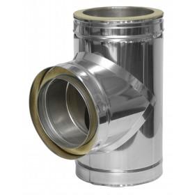 T-stuk 90º met inspectiedeur 30 mm isolatie ø200 mm