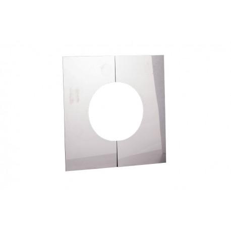 Centreerplaat RVS platdak 130 mm