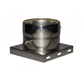 Tussenondersteuning met  condensuitloop 35 mm ø130 mm